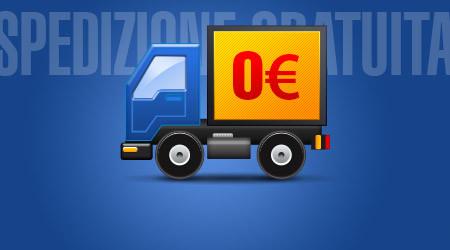 Spedizione gratuita su ordini sopra €85