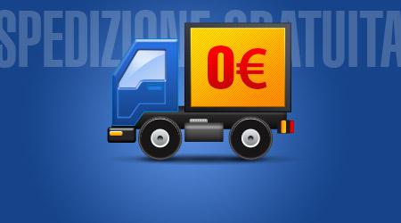 Spedizione gratuita su ordini sopra €49