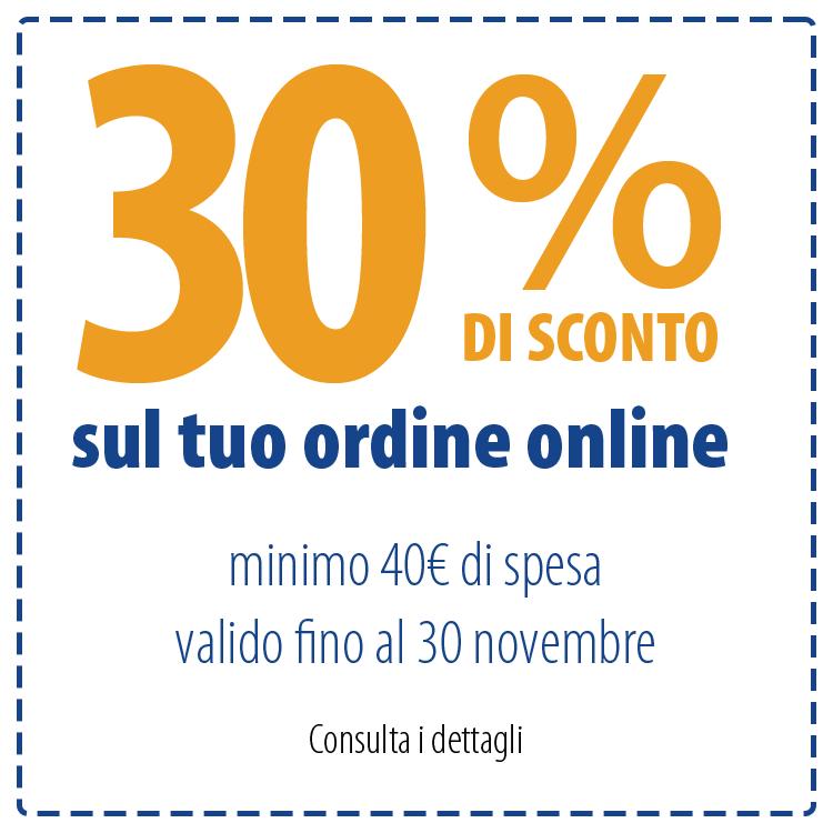 30% di sconto sul tuo ordine online